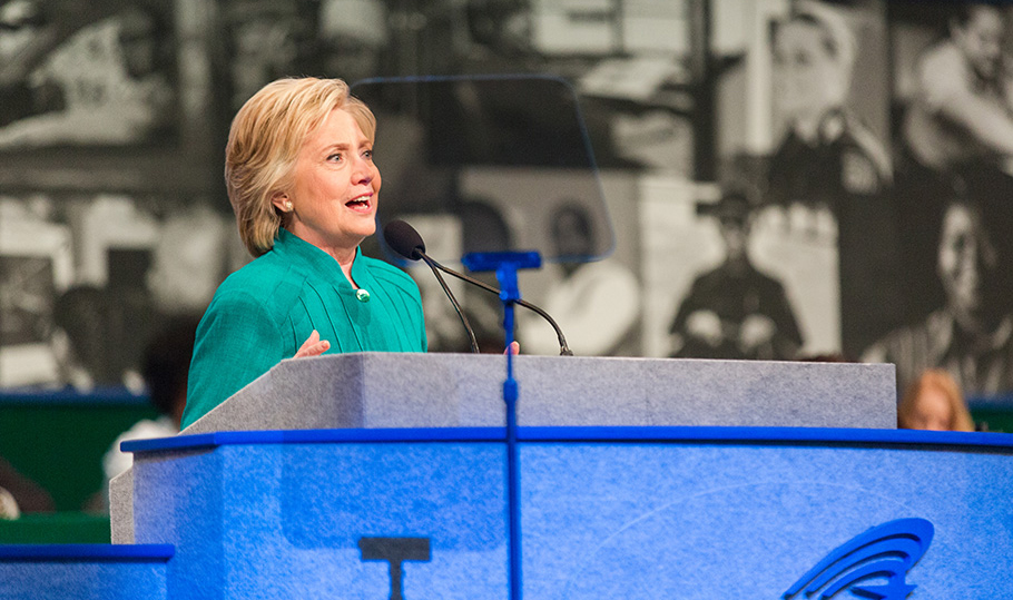 Hillary Clintons speaks at Convention